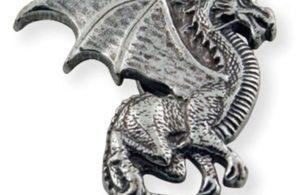 Dragon ailé droit