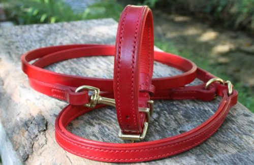 Collier & laisse rouge Scottish, Schnauzer