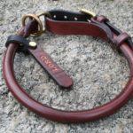 collier en cuir cousu rond - Atelier Napoléon