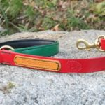 Laisse en cuir rasta assortie au collier rasta pour chien
