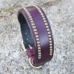 collier violet en cuir pour chien - Atelier Napoleon
