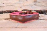 Coeur bombé Ecaille rose corail