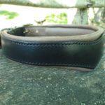 collier chien Black en cuir noir, design Superdog