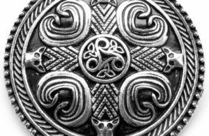 Bouclier celte argent