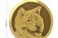 Médaille à graver Akita Inu