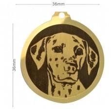Médailles chien portrait de race