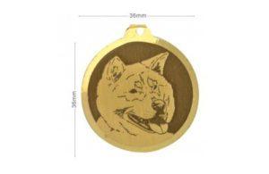 Médaille Akita Inu