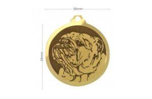Médaille Bouledogue anglais