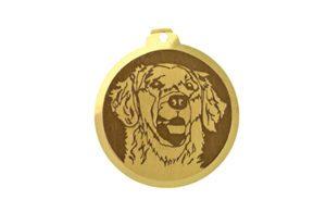 Médaille à graver Golden Retriever