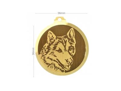 Médaille à graver Husky