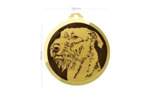 Médaille à graver Irish Wolfhound