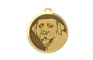 Médaille à graver Labrador