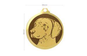 Médaille Braque de Weimar