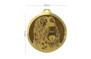 Médaille Bearded Collie