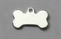 Médaille chien os argent