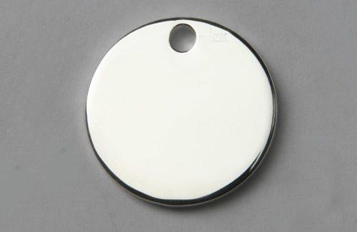 Médaille chien ronde argentée