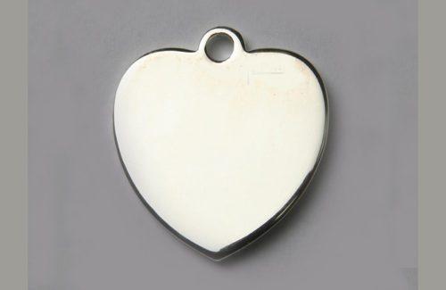Médaille chien coeur argent