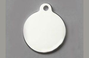 Médaille argentée ronde avec bélière