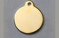 Médaille dorée ronde avec bélière