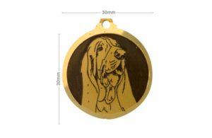 Médaille Basset Hound