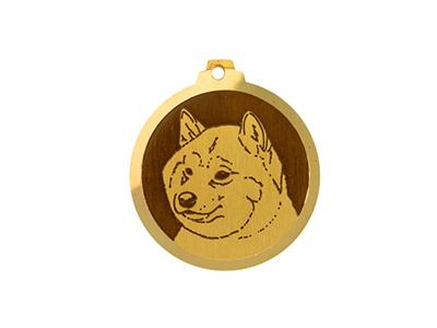 Médaille Shiba Inu